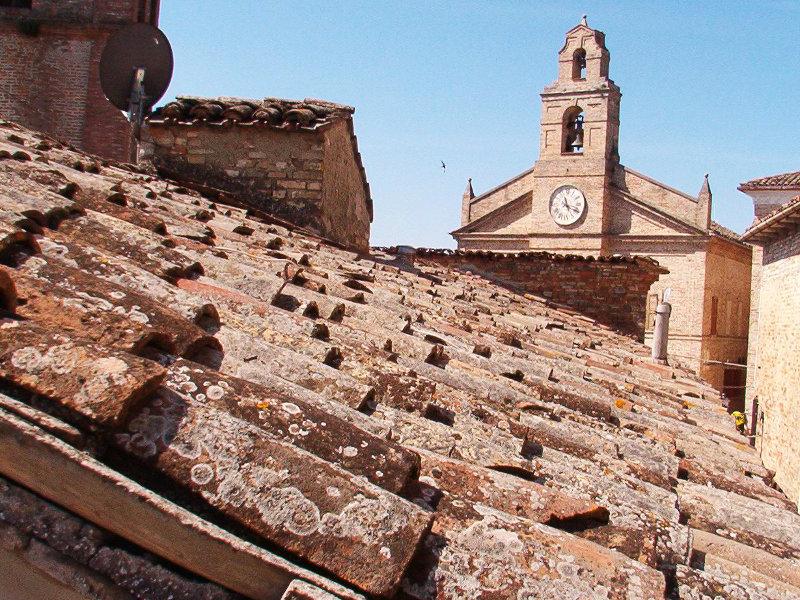 "Traditional terracotta ""coppi"" roof tiles"