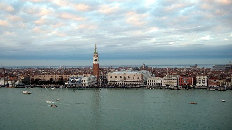 View from San Giorgio Maggiore bell tower, Venice © Deborah Swain