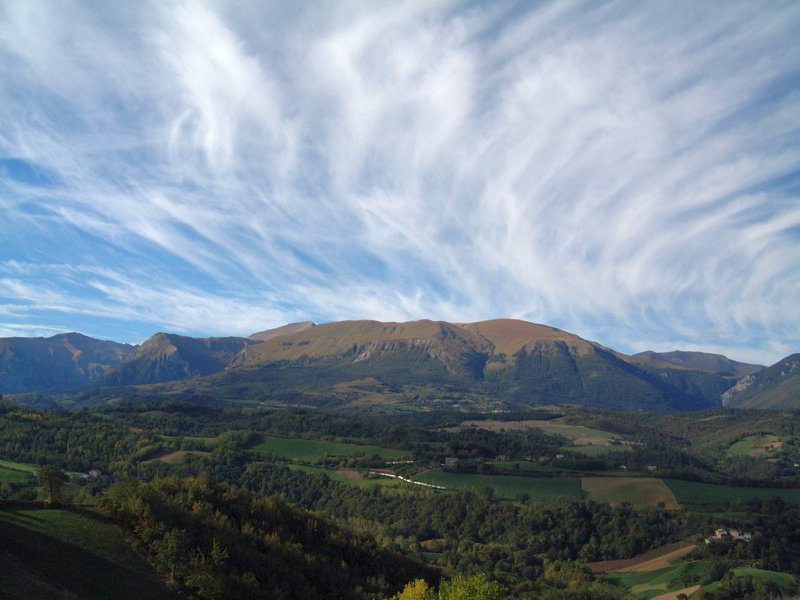 The Sibillini Mountains in Le Marche, Italy